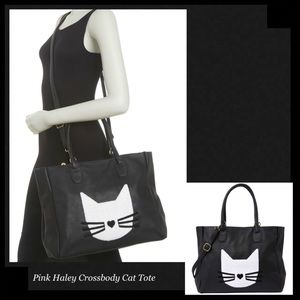 PINK HALEY Cat Crossbody Tote Bag